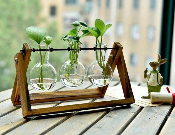 Simple Glass Vase Set