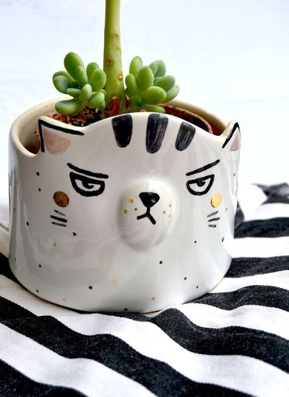 Cat Planter, Grumpy Cat