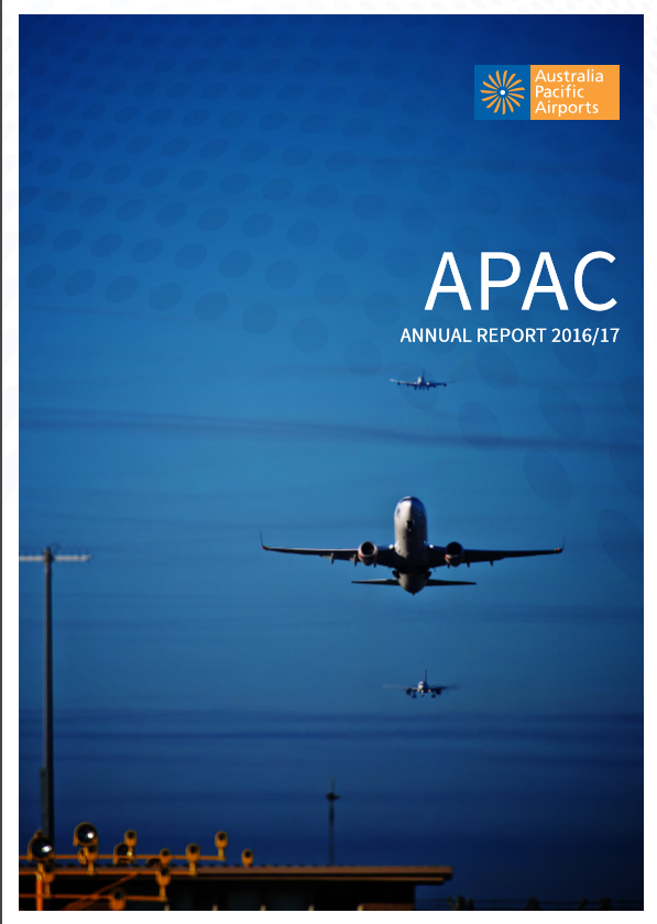 Annual Reports - It was very rewarding working with Australia Pacific Airports Corporation's communications team to put together their 2016/2017 annual report.Read here.