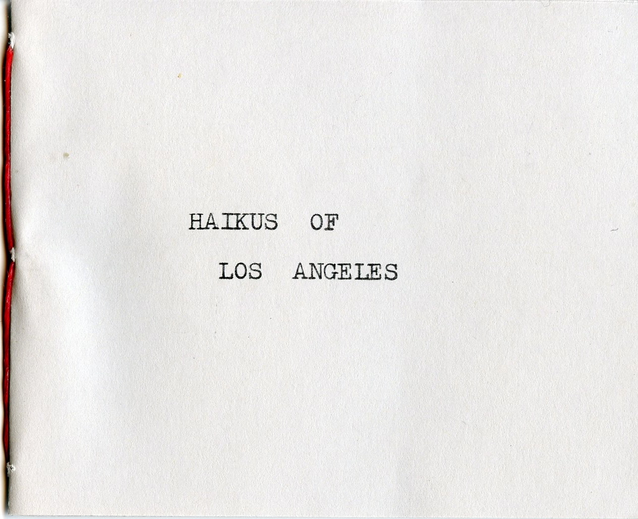 Haikus of Los Angeles