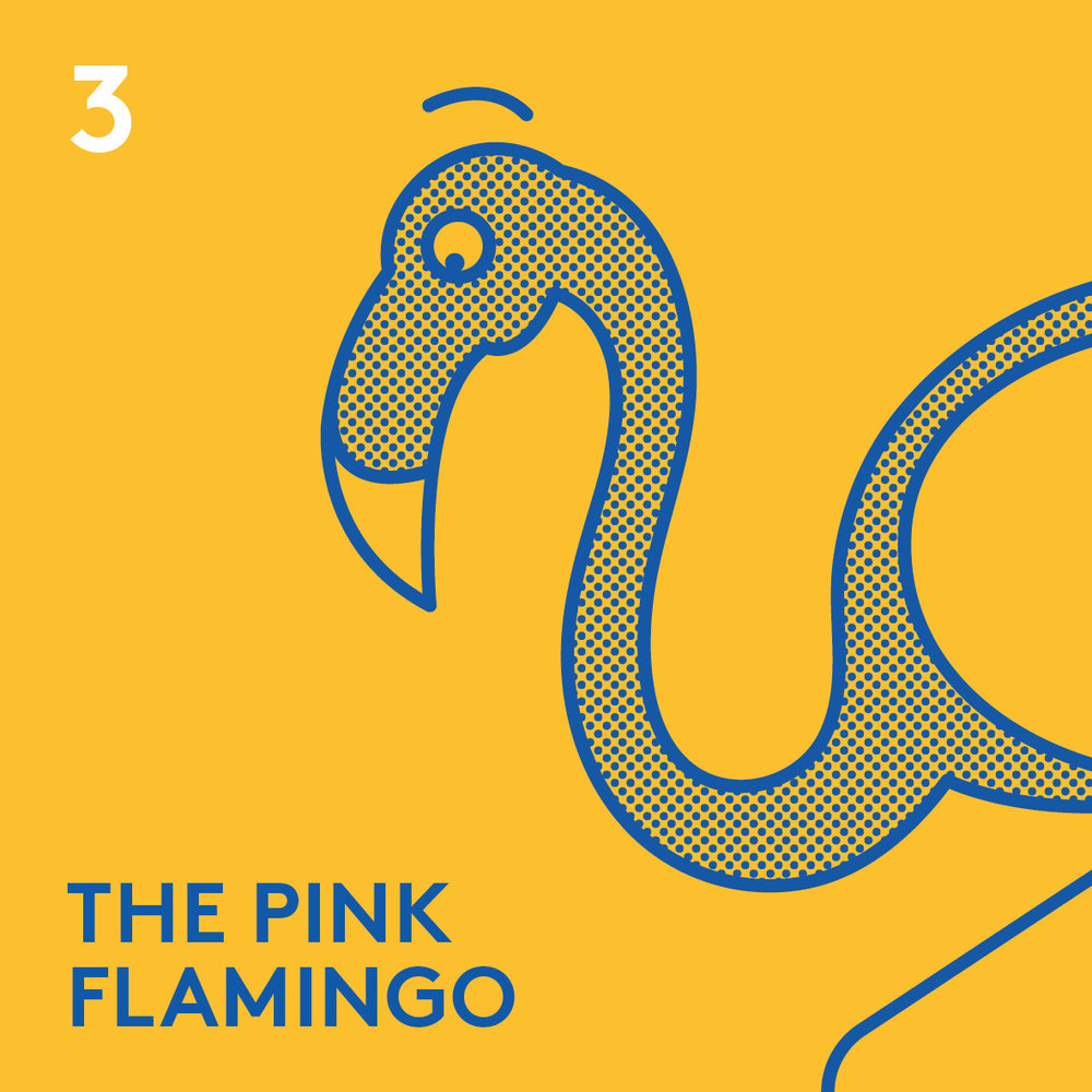 <strong>THE PINK FLAMINGO</strong><br>Soft Serve & Hard Shakes<br><br>