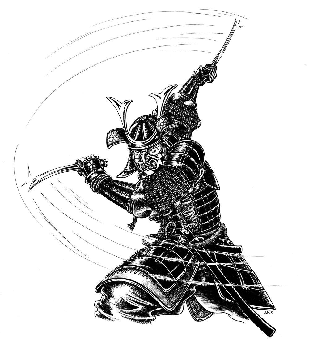 Samurai Warrior - Alison Schofield Illustration smaller.jpg