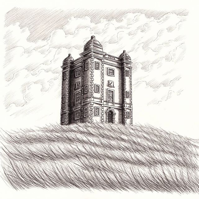 Finished commission of The Cage at Lyme Park in Cheshire, ready to go off to the framers :) #nt_lymepark #nationaltrust #cheshire #illustration #contemporaryart #commission #inkart #inkartist #inkdrawing #drawing #art #gothic #architecturedrawing #architecture #handdrawn #instagood #penandink #unipin #blackandwhite #tudor #historical #landscape #penart #cloud #tower #inklouvre #blackworkillustrations #blackworknow #duende_arts_help