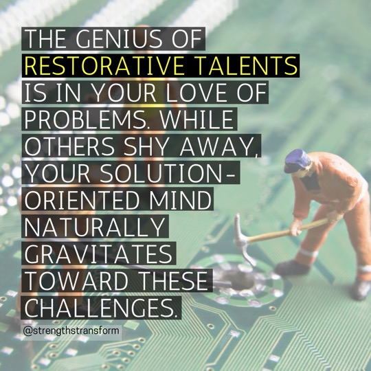StrengthsFinder Singapore - Restorative - Genius