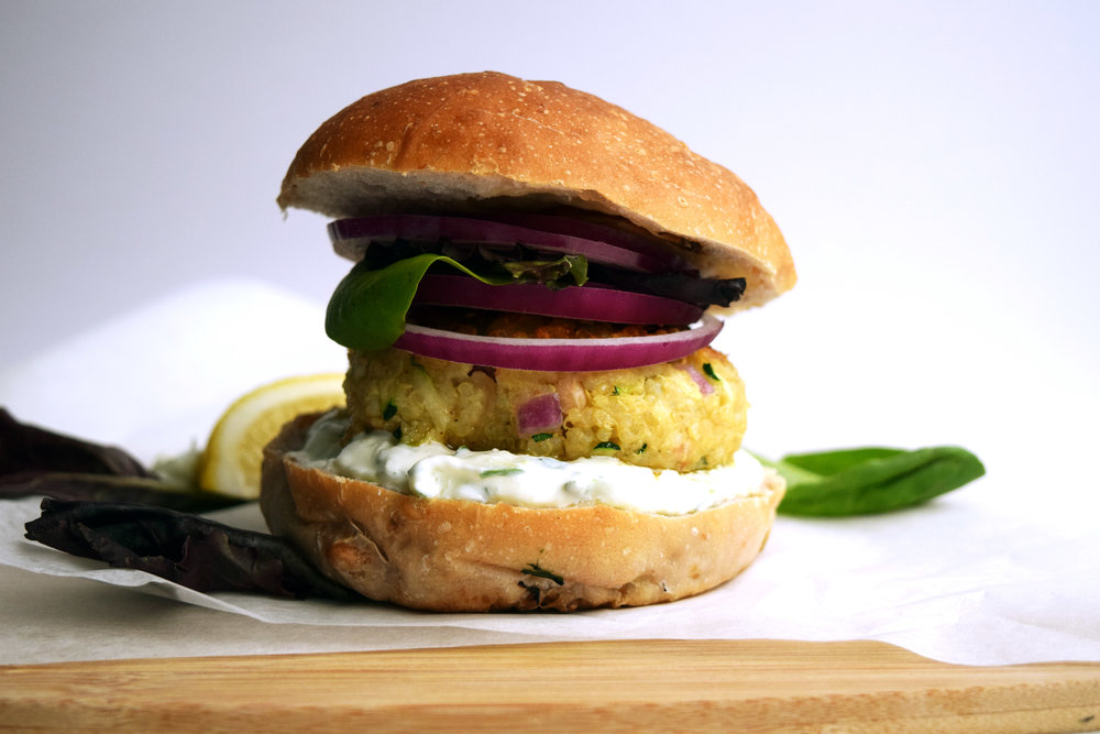 Perfect served on a bun with some salad and some tzatziki.