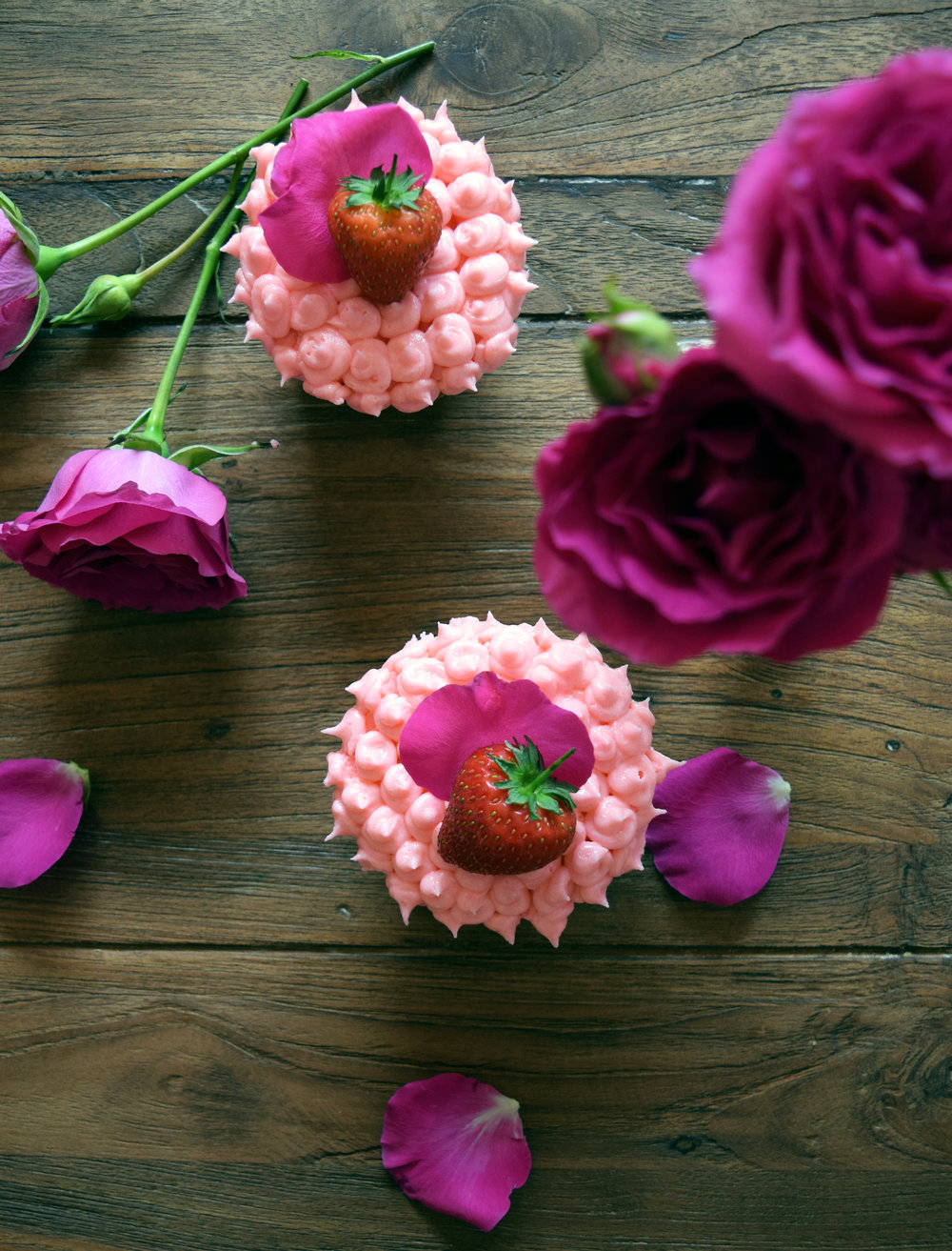 Fruity and fragrant Strawberry Rose Cupcakes