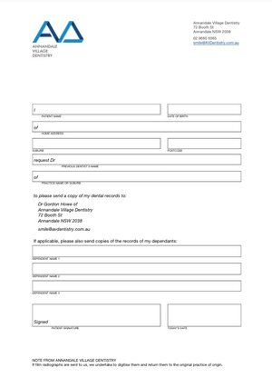 Annandale Village DentistryPatient Forms