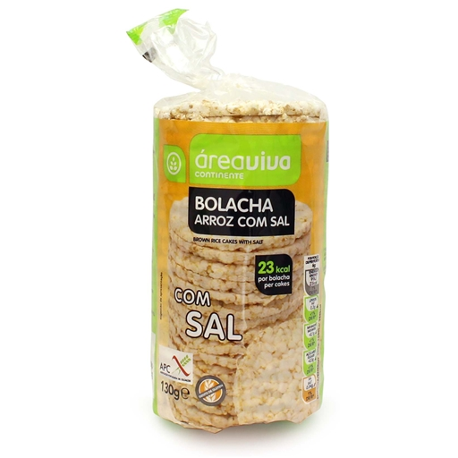 RICE BISCUITS W/ SALT & W/OUT GLUTEN 130GR