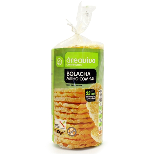 CORN BISCUITS W/ SALT & W/OUT GLUTEN 130GR