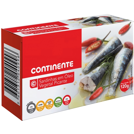 SARDINES	   IN	   SPICY	   OIL CNT	   120GR