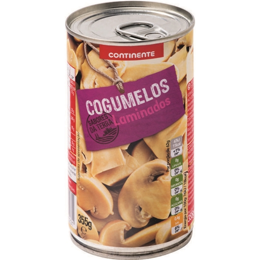 SLICED	   MUSHROOMS CONTINENTE	   355GR