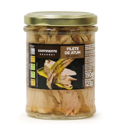 TUNA	   IN	   OLIVE	   OIL CONTINENTE	   120GR