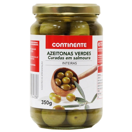 GREEN	   OLIVES	   IN	   BRINE CNT	   350GR