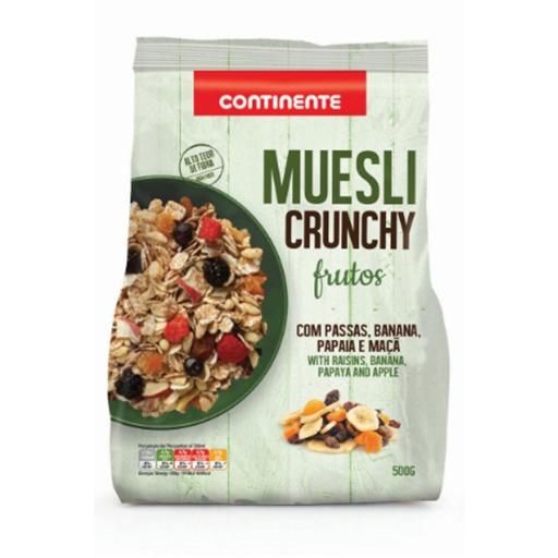 CRUNCHY  MUESLI W/FRUITS  CNT  500GR