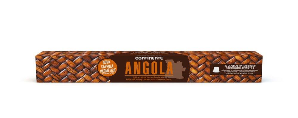 ANGOLA  COFFEE CONTINENTE  10CAP
