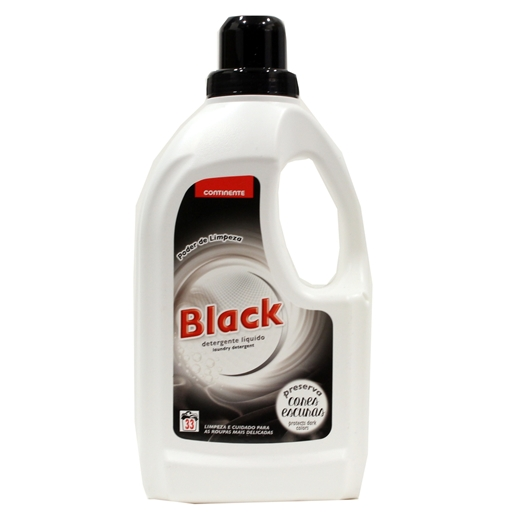 LIQ.	   BLACK	   LAUNDRY DET.	   FOR	   WASHING MACHINE	   CONTINENTE