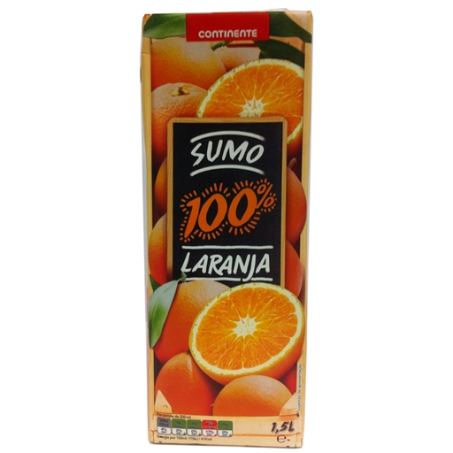 100% ORANGE JUICE CONTINENTE 1,5LT