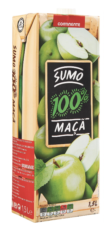 100% APPLE JUICE CONTINETE 1,5L