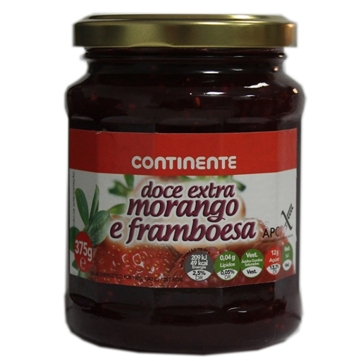 STRAWBERRY	   AND RASPBERRY	   JAM	   CNT 375GR