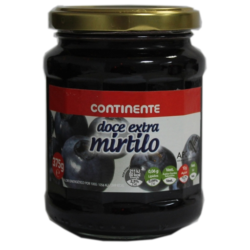 BLUEBERRIES	   JAM CONTINENTE	   375GR