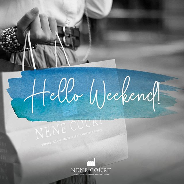 Friday is finally here so why not pop down to Nene Court this weekend for a coffee, a catch-up and a mooch around our wonderful, independent shops.  #ShopLocal #Wellingborough #Shopping #Northamptonshire #SmallBusiness #Shopping #Shop