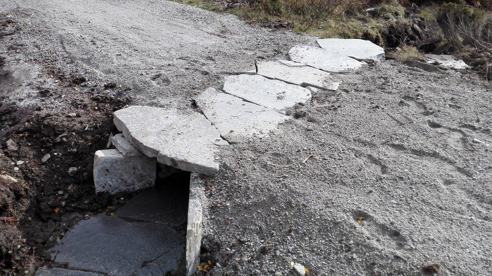 Stikkrenn på den nye sykkelvegen over Dovrefjell. Foto: Inge Angård