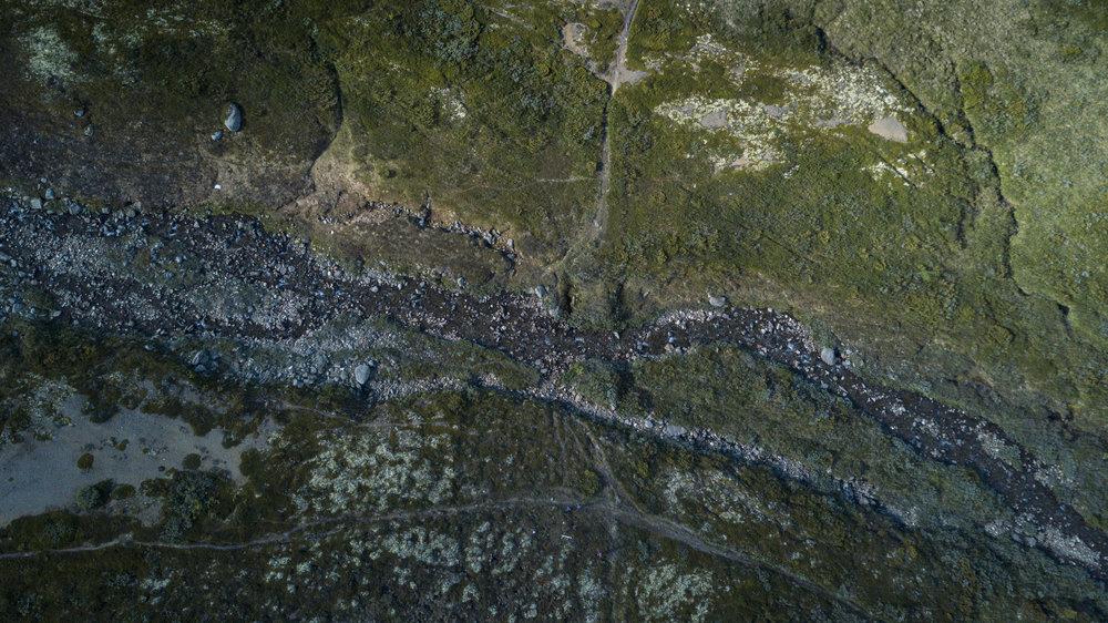 Oversiktsbilde over brukarene ved Hondyrju. Foto: Matti Bernitz