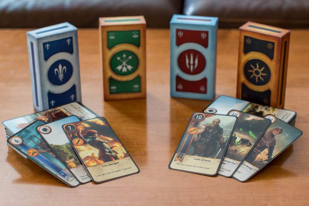 A Reddit user Adef25 created real-life Gwent card sets.