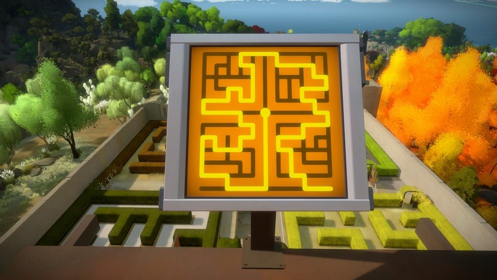 An in-game screenshot of  The Witness