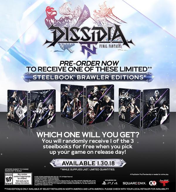 Dissidia pre-order bonuses - Rented Art game