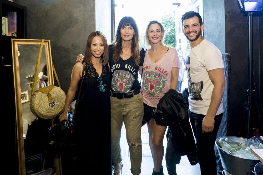 La actriz  Luz Valdenebro  acompañada de su pareja  Fran Perea  y de  Usun Yoon . Un placer...