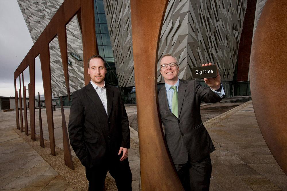 Dr Stephen McKeown, CEO Analytics Engines with Liam Scahill, Hewlett Packard Enterprise