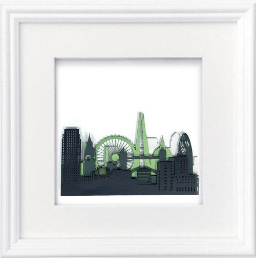 London Skyline\' Laser cut relief panel — Studio-M Design