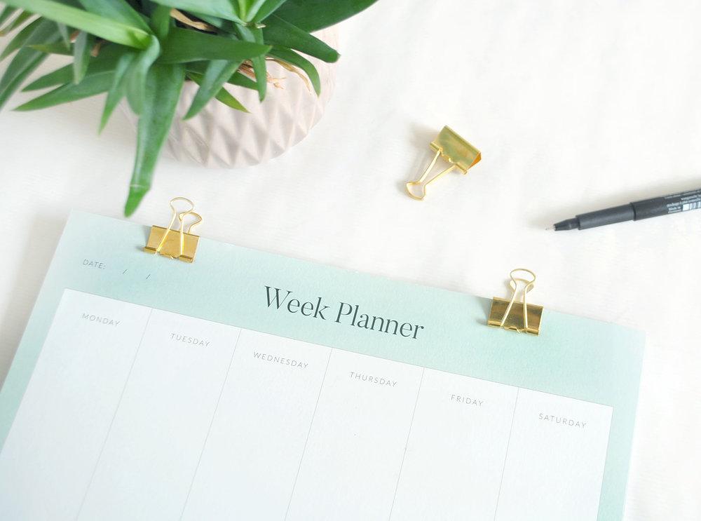 Week Planner  £8.00