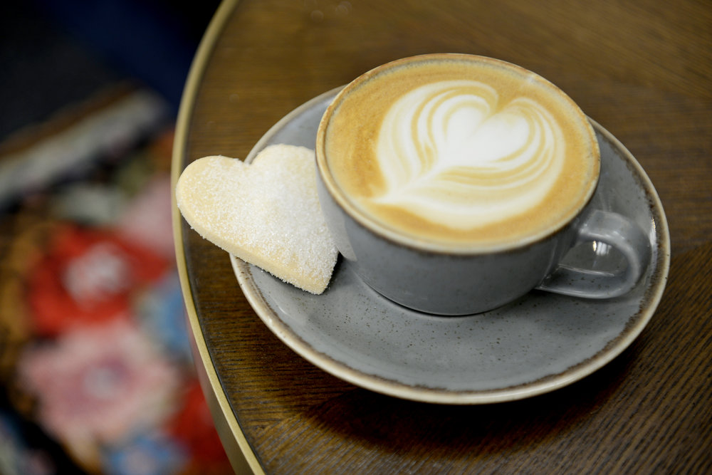 love is in the air… - and it smells like our homemade shortbread! This Valentines Day we are giving away our delicious heart shaped shortbread with every hot drink! Bon appetit mes amours!
