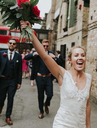 Shoreditch wedding day