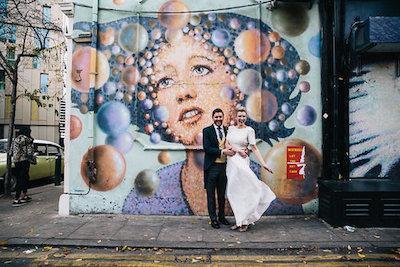Shoreditch wedding street art