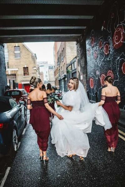 Shoreditch Studios winter wedding bride