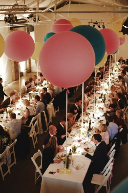 Shoreditch Studios wedding with balloons