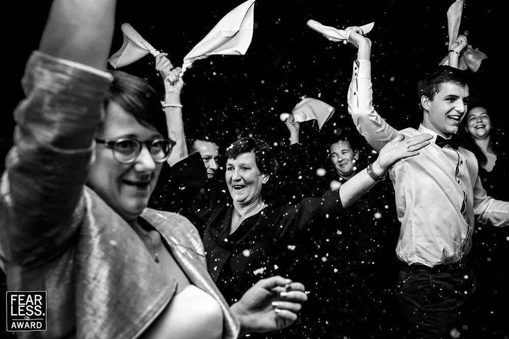 Party fotograaf Wetteren huwelijk Part of the Vision Fearless Award