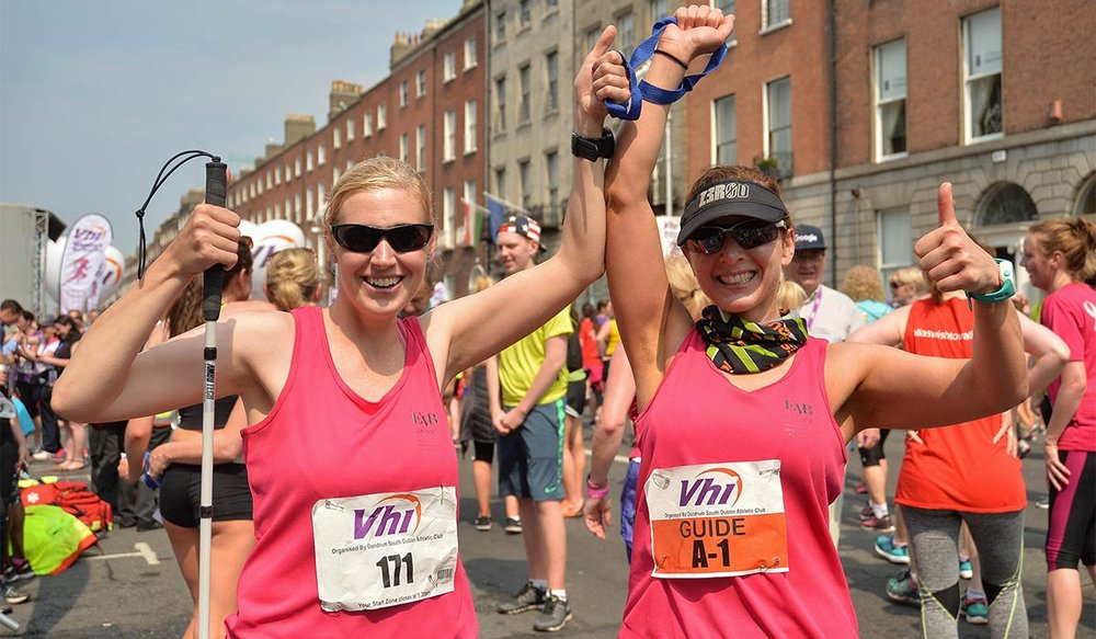 In January, 2017, Irish athlete Sinead Kane became the first legally blind woman to run seven marathons on seven continents in seven days.