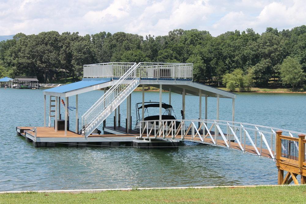 Gable Roof Sundeck Aluminum Martin Dock
