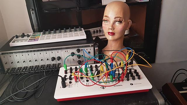 Something is watching us... #vocoder #modular #phenol #killpatrick #arturia #beatsteppro #scary #doll #makeup