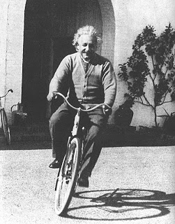1 - Getting to school on a bike helps you concentrate. - Ask Einstein, who first thought of his Theory of Relativity on a bike. Or Niels Egelund of Aarhus University in Denmark who studied the link between concentration and exercise, and found that exercise was more important than even food!