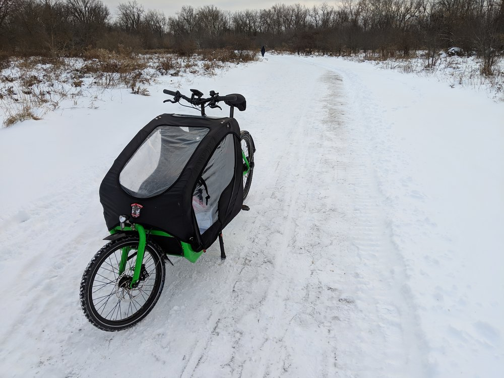 There's nothing to clear your mind like a crisp clean winter bike ride on a freshly plowed trail.