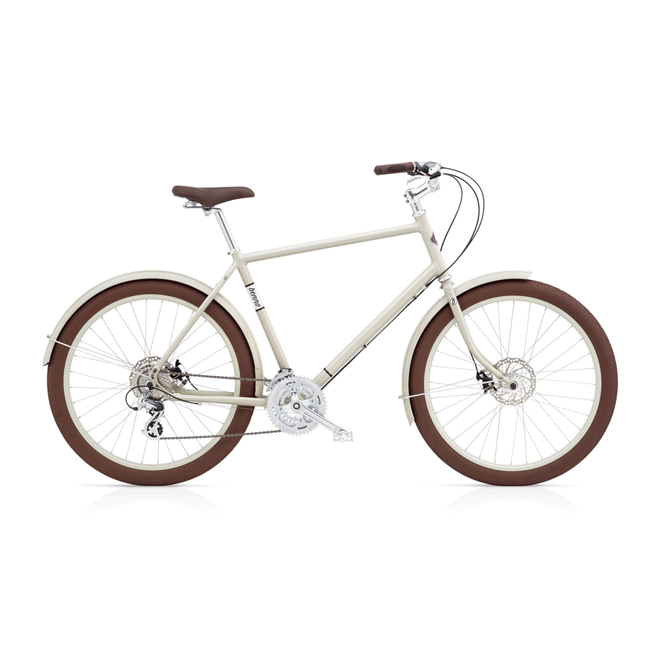 """Benno Ballooner - $985 / $785 (reg $1300 / $1100)   The Ballooner is a fun, functional and looks great! The very balanced geometry is comfortable and sporty, which allows for a longer, more purposeful ride. These bikes were """"odd ones out"""" in our store's showroom, that didn't quite fit with our new City Bike line. BUT, they're incredibly fun to ride, lightweight, and at this price they are an incredible value.  Availability: Large 24-speed in Oyster White (pictured) - $985 Medium 8-speed in Cacao Brown - $785"""