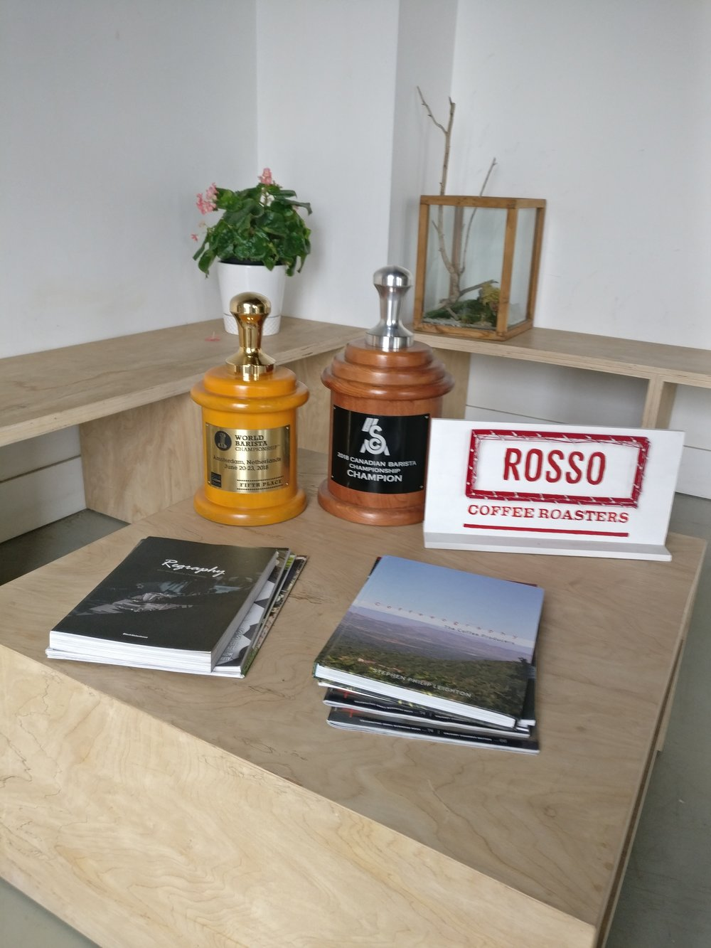Trophy cabinet. Unpretentiously open.