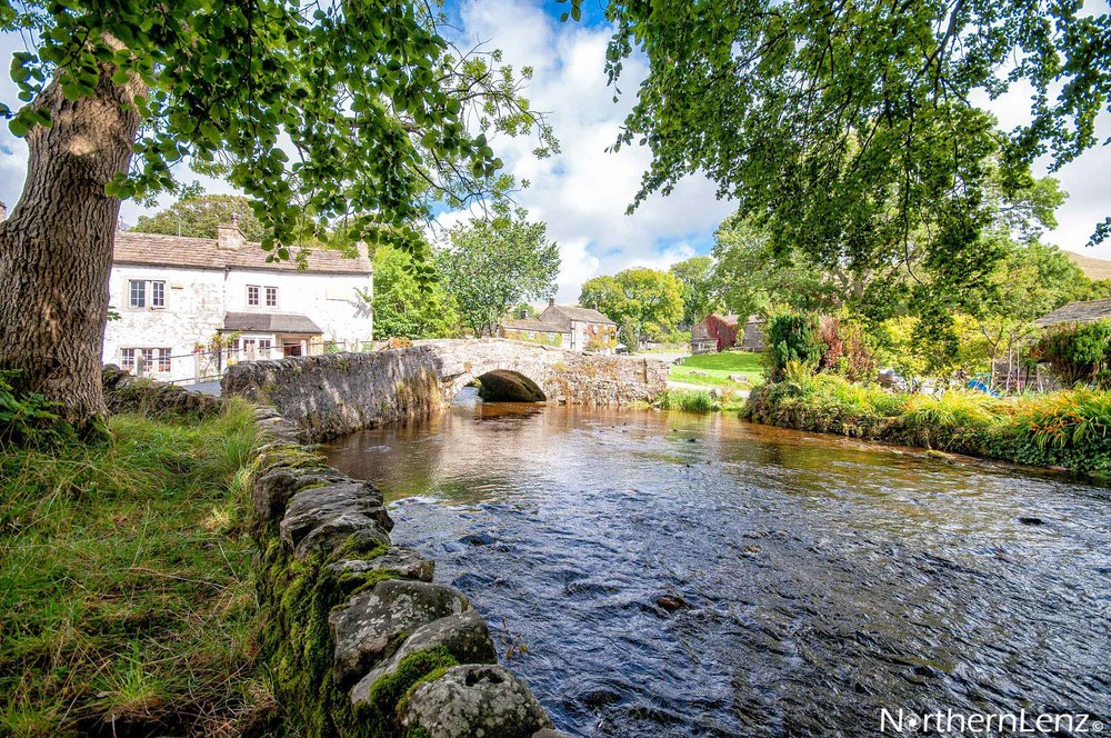 Idyllic scene at Malham, a small village in the Pennines, at the southern base of the Yorkshire Dales  Image Ref: WW09