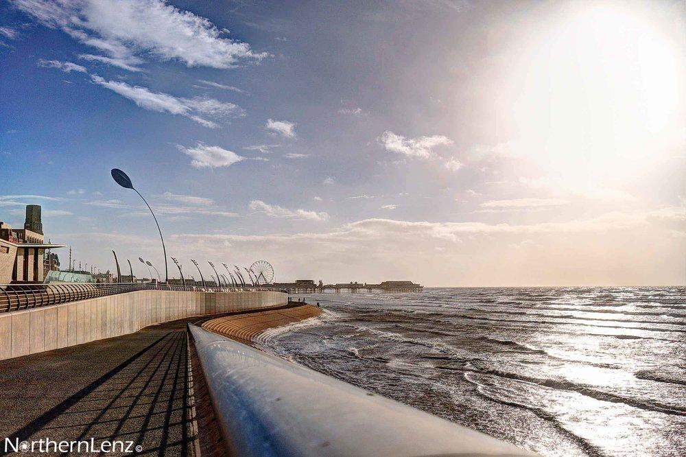 Blackpool seafront under a blazing sun  Image Ref: CC07