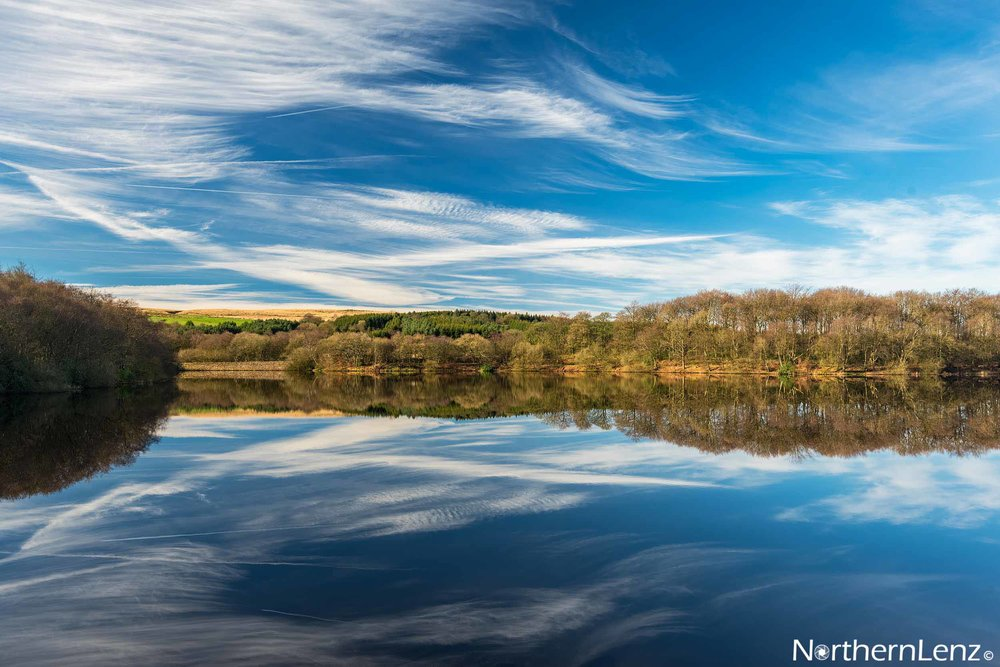 Gorgeous cloud patterns over Rake Brook Reservoir, Abbey Village in Lancashire  Image Ref: RP04